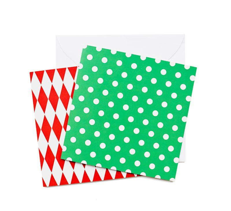 Mönsterkort Stort Grönt med vit prick