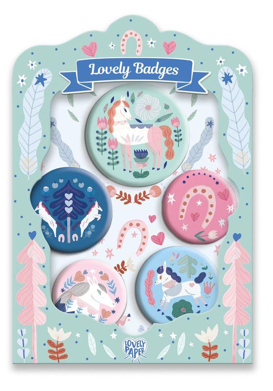 Horses lovely badges