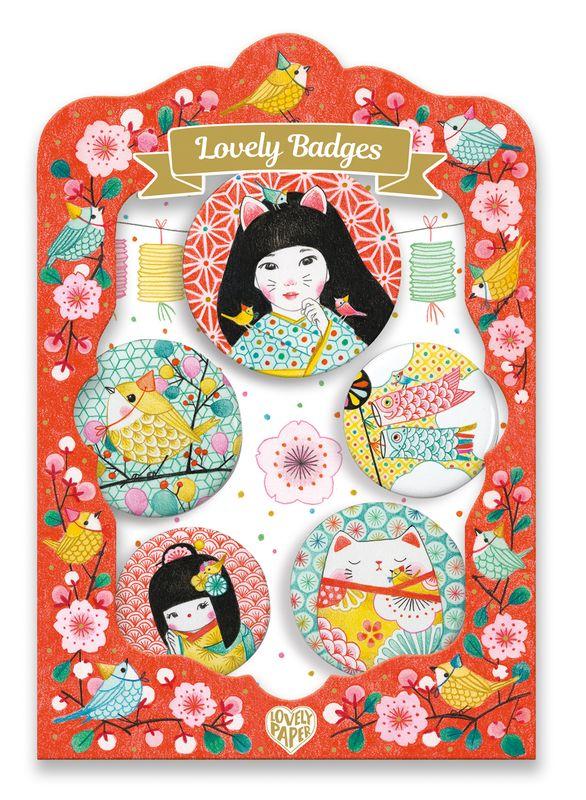 Japan lovely badges