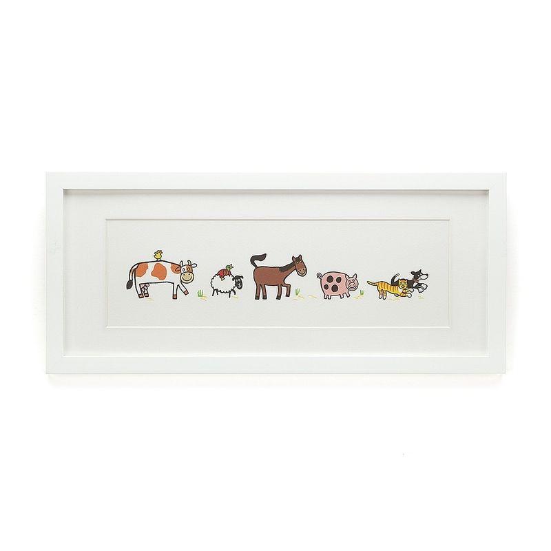 Farm Tails Framed Print