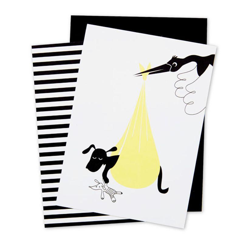 Hundkort Stork