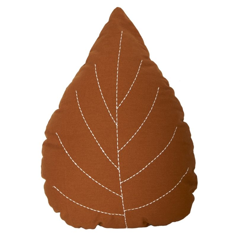 Leaf Cushion - Brown