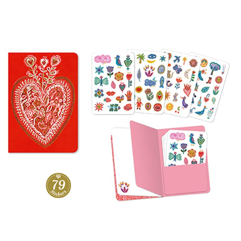 Aurelia stickers notebook (79 pcs)