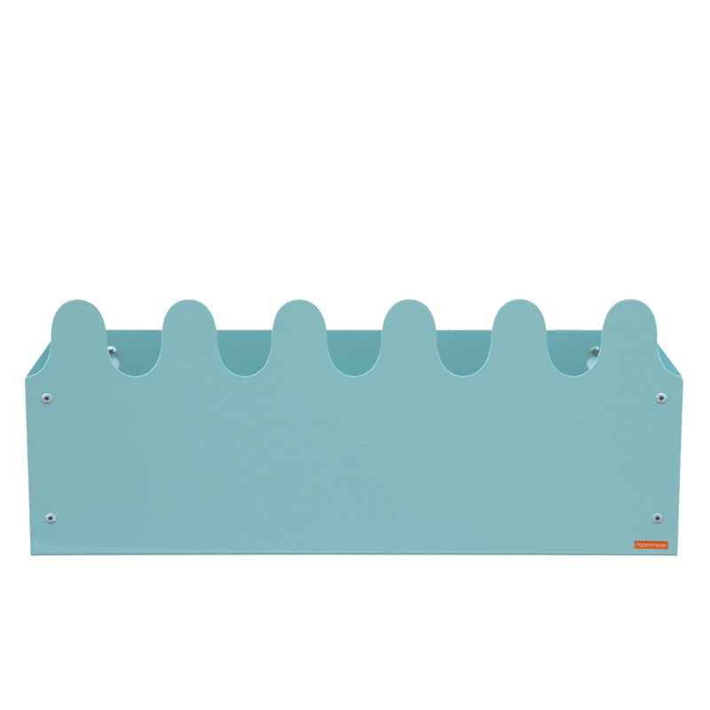 Sinus Box & Coat rack Pastel Blue/green