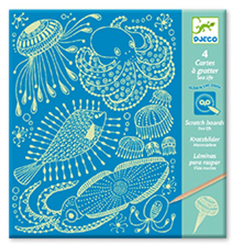 Scratch card, Sea Life