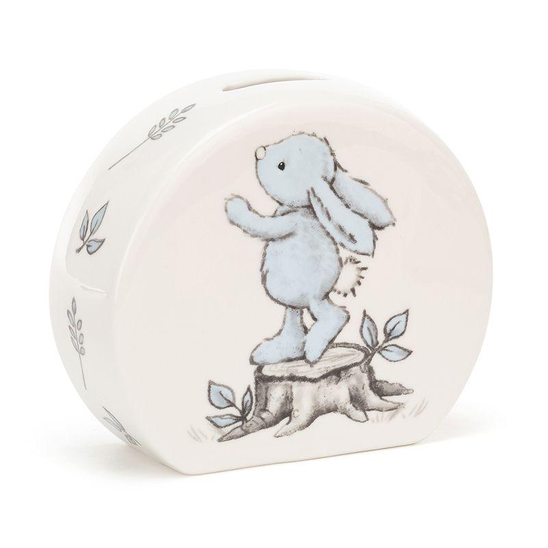 Bashful Blue Bunny Money Box
