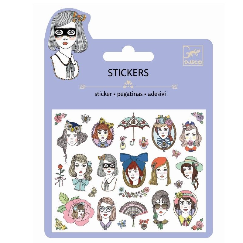 Stickers Glitter - Portraits