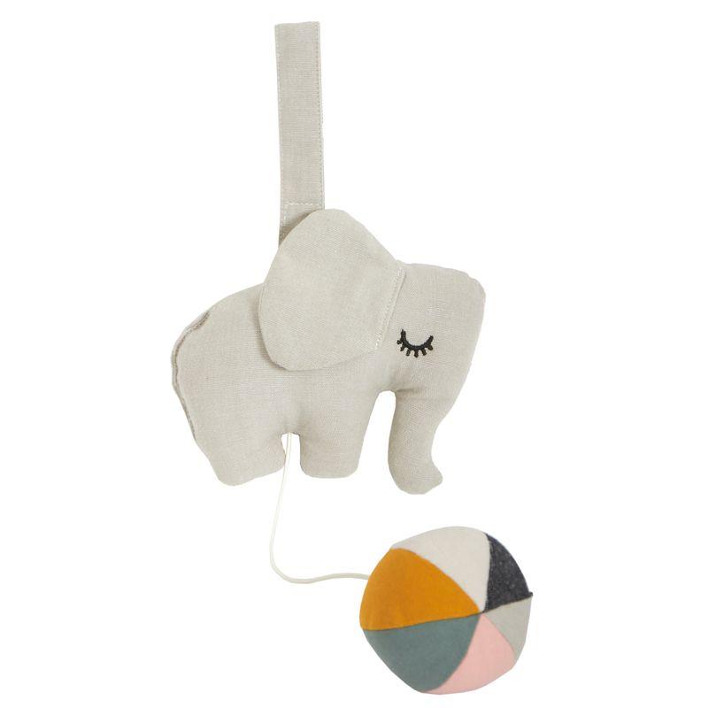 Elephant on ball - Grey