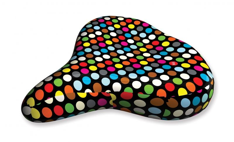 Liix Saddle Cover Polka Big Dots Mix Black