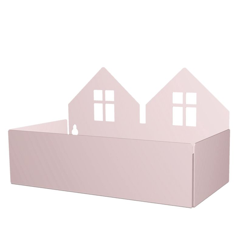 Twin house box, rose