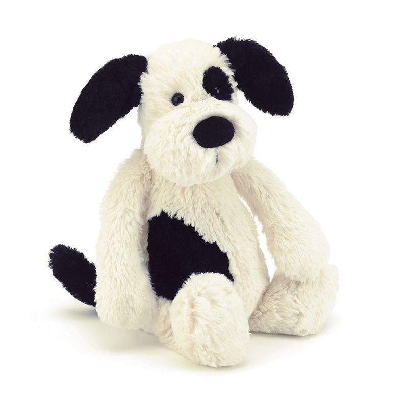Bashful Black and Cream Puppy Medium