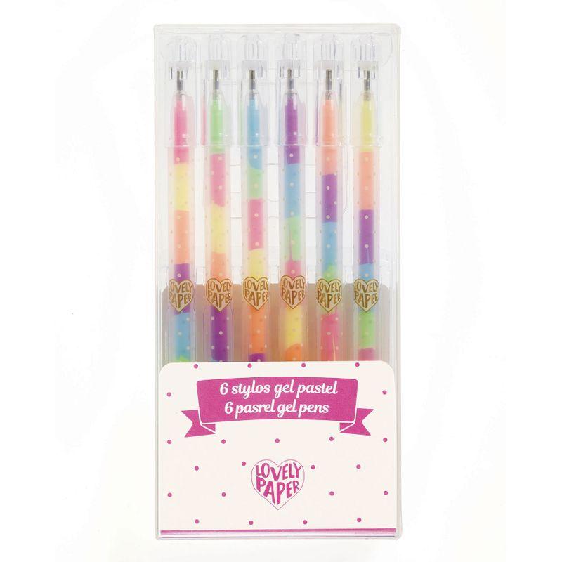 6 pastel gel pens
