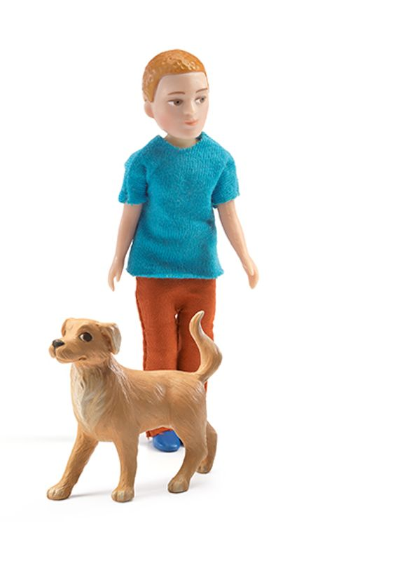 Xavier and his dog