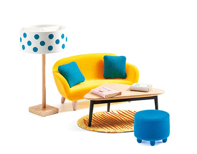 The orange living room
