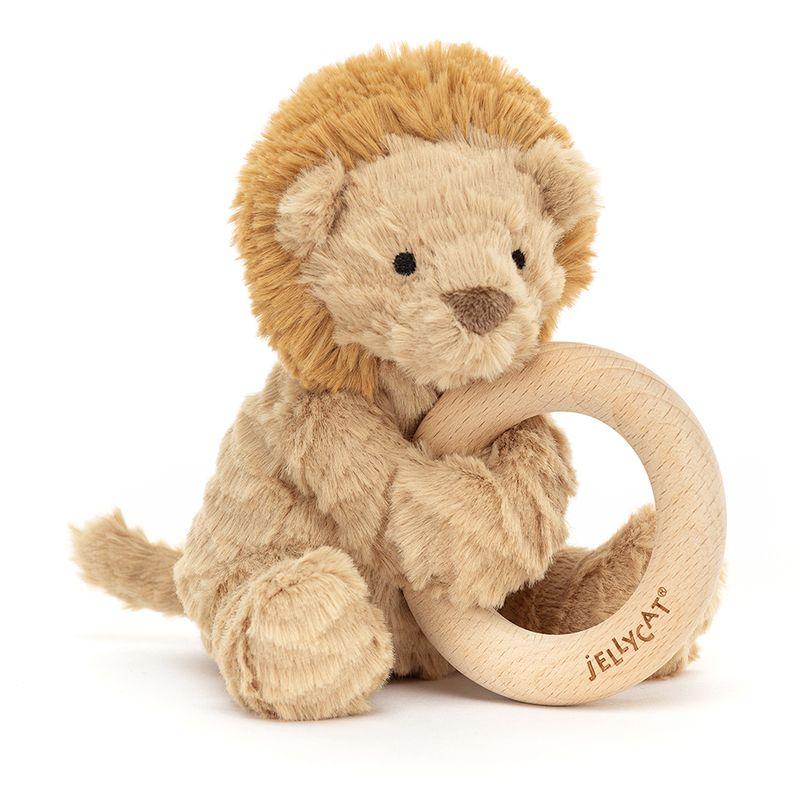 Fuddlewuddle Lion Wooden Ring Toy