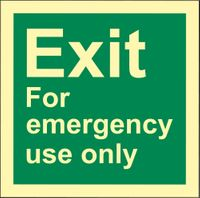 RS0064 Exit for emergency use only