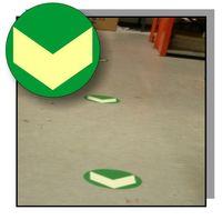 Golvmarkör efterlysande Grön pil