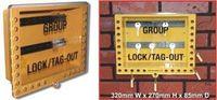Gul grupplåsbox för nycklar