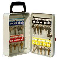 Kraftigt Nyckelskåp i stål, plats för 20 nycklar, 225 x 255 x 800 mm