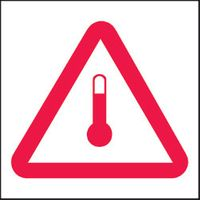 Förhöjd temperatur märkband