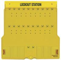 Lockoutstation för 20 lås, med lock, tom.1484