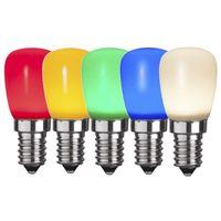 Päronlampa LED 0,8W E14 Färgade