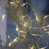 Dew Drops String utomhus 100 LED Varmvit/Silver med trafo
