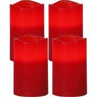 Blockljus 4-Pack May Röd