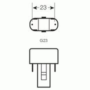 Osram Dulux S 2-stift G23
