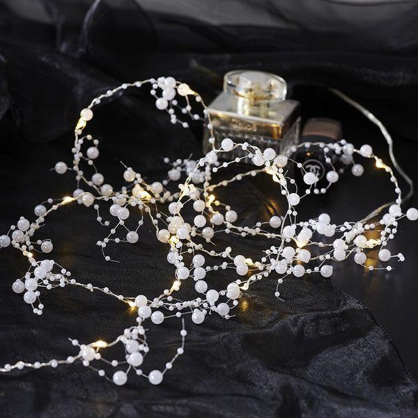 Dew Drops Pearl 20 LED Varmvit/Silver för batteri