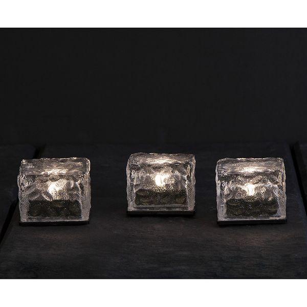 Solcellsdekoration Icecube 3st