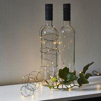 Dew Drops String 40 LED Varmvit/Svart för batteri