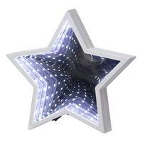 Inomhusdekoration Mirror Light Stjärna Vit 20cm