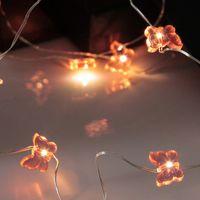 Dew Drops Butterfly 12 LED Varmvit/Silver för batteri