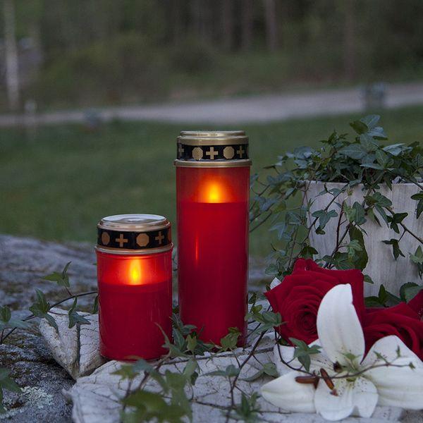 Minnesljus Serene Röd 21cm