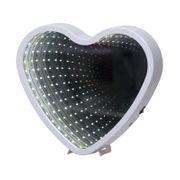 Inomhusdekoration Mirror Light Hjärta Vit