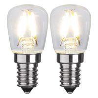 Päronlampa Filament LED 1,3W 90lm E14, 2-pack