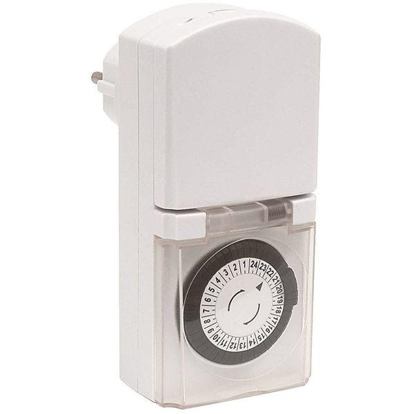 Malmbergs Klockströmbrytare (timer) Vit IP44 för utomhus