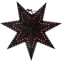 Julstjärna Bobo Svart 34cm