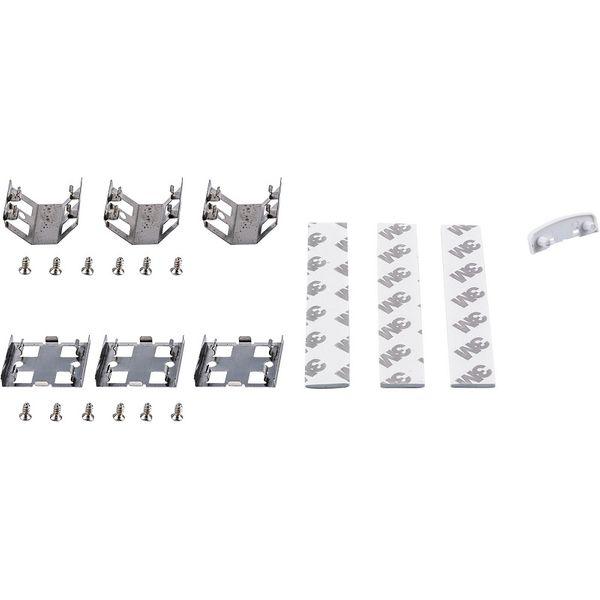 Direktkoppling, clips, skruvar och dubbelhäftande tejp till LED-list 1000mm
