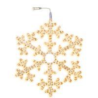 Snowflake ljusslang varmvit 75 cm