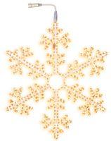Snowflake ljusslang varmvit 100 cm