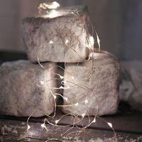 Dew Drops Bouquet 46 LED Kallvit/Silver för batteri