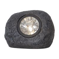 Solcellsspotlight Rocky Grå 15lm