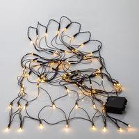 Akku Ljusslinga Nät för utomhus LED, 80-ljus
