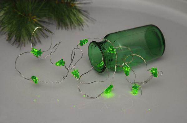 Dew Drops Tree 12 LED Varmvit/Silver för batteri