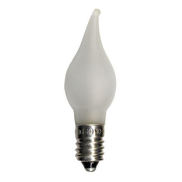 Topplampa LED E10 Matt med böjd topp Star Trading