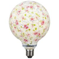 Globlampa Mosaik Röd Ø130 LED 4,0W 150lm E27