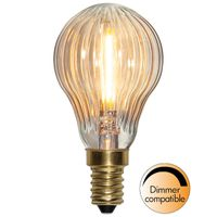 qDimbar Klotlampa Räfflad LED 0,8W 50lm E14