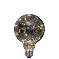 Globlampa Ø95 Dew Drop Smoke LED 1,5W 20lm E27